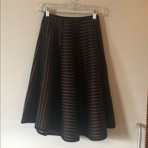 Retro-inspired lace circle skirt